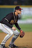 April 14, 2010: Ryan Peisel of the Modesto Nuts during game against the Rancho Cucamonga Quakes at The Epicenter in Rancho Cucamonga,CA.  Photo by Larry Goren/Four Seam Images