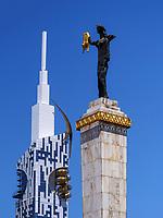 Europaplatz mit Statue der Medea und ehemalige Universität, Batumi, Adscharien - Atschara, Georgien, Europa<br /> former university and Europe Square with statue of Medea, Batumi, Adjara,  Georgia, Europe