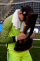 Chester, PA - Sunday December 10, 2017: Nico Corti Stanford University defeated Indiana University 1-0 in double overtime during the NCAA 2017 Men's College Cup championship match at Talen Energy Stadium.