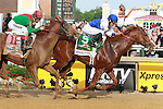 2011 05 21: Shackleford with Jesus Castanon beat Animal Kingdom to win the Grade 1 Preakness Stakes for 3 year olds at 1 3/16 mile, Pimlico Racetrack. Trainer Dale Romans. Owner Michael Lauffer.