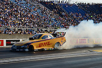 Jun. 30, 2012; Joliet, IL, USA: NHRA funny car driver Jeff Arend during qualifying for the Route 66 Nationals at Route 66 Raceway. Mandatory Credit: Mark J. Rebilas-