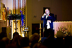WATERBURY, CT-121717JS01---Singer Michael Castaldo, performs classic Christmas carols and Advent songs during an Italian Christmas concert Sunday at Our Lady Of Mount Carmel Church in Waterbury. <br /> Jim Shannon Republican-American