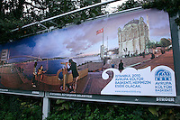 Billboard advertising the fact that Istanbul will be the 2010 European Capital of Culture in Istanbul, Turkey