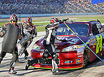 Sprint Cup Series driver Jeff Gordon's(24) pit crew in action during the Nascar Sprint Cup Series AAA Texas 500 race at Texas Motor Speedway in Fort Worth,Texas. Sprint Cup Series driver Jimmie Johnson (48) wins the AAA Texas 500 race.