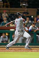 Salt River Rafters catcher Spencer Kieboom (19) at bat during an Arizona Fall League game against the Scottsdale Scorpions on October 14, 2015 at Scottsdale Stadium in Scottsdale, Arizona.  Scottsdale defeated Salt River 13-3.  (Mike Janes/Four Seam Images)