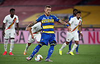 Parma's Juraj Kucka scores on a penalty kick during the Italian Serie A football match between Roma and Parma at Rome's Olympic stadium, July 8, 2020.<br /> UPDATE IMAGES PRESS/Isabella Bonotto