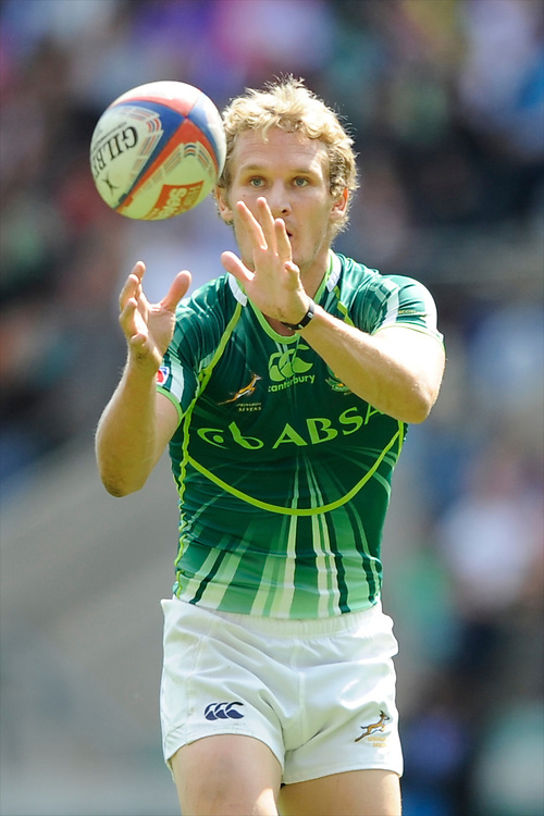 Philip Burger of South Africa during the iRB Marriott London Sevens at Twickenham on Sunday 13th May 2012 (Photo by Rob Munro)