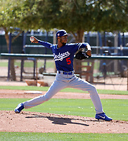 Edward Cuello - Los Angeles Dodgers 2019 spring training (Bill Mitchell)