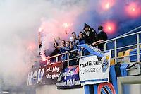 Bekerfinale vrouwen 2015 : Lierse-Club Brugge Vrouwen :<br /> <br /> heel wat meegereisde blauw-zwart supporters zorgden voor de nodige sfeer<br /> foto VDB / BART VANDENBROUCKE