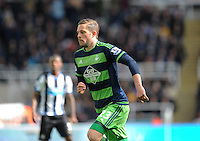 Gylfi Sigurosson of Swansea City during the Barclays Premier League match between Newcastle United and Swansea City played at St. James' Park, Newcastle upon Tyne, on the 16th April 2016