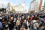 Japan fans, <br /> OCTOBER 7, 2016 :<br /> Japanese medalists of Rio 2016 Olympic and Paralympic Games wave to spectators during a parade from Ginza to Nihonbashi, Tokyo, Japan.<br /> (Photo by YUTAKA/AFLO SPORT)