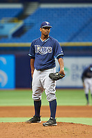 Tampa Bay Rays pitcher Alexis Tapia (30) during an instructional league game against the Boston Red Sox on September 24, 2015 at Tropicana Field in St Petersburg, Florida.  (Mike Janes/Four Seam Images)