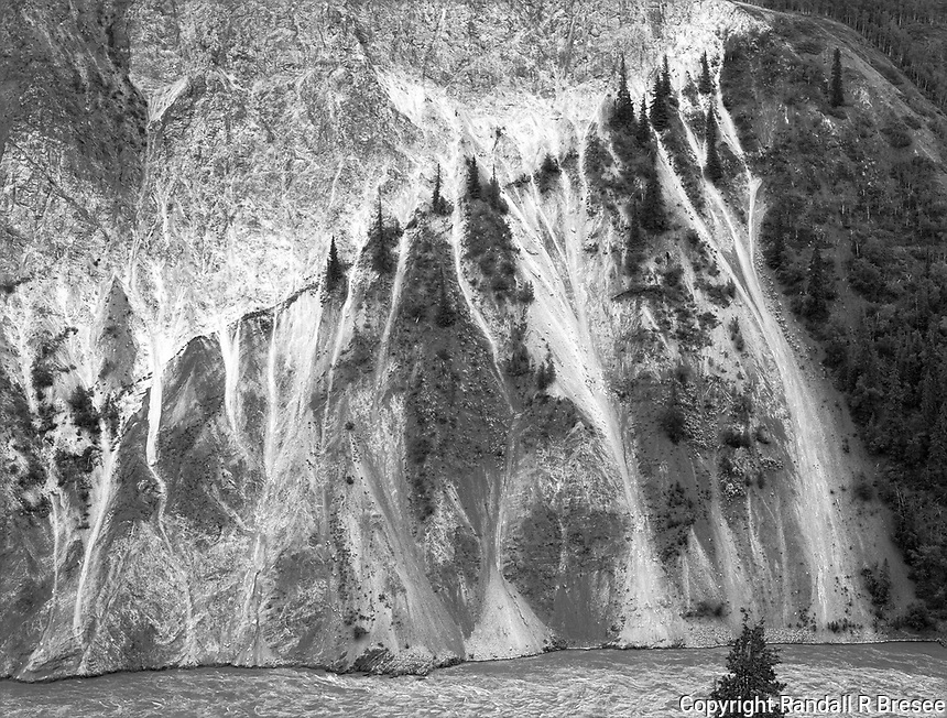 """""""Steep Bluff on the Stikine River""""<br /> British Columbia, Canada<br /> <br /> Telegraph Creek Road is a great drive that offers steep grades and beautiful scenery. The road provides several glimpses of the Stikine River and this photo shows a steep bluff along the river."""