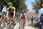 The peloton including Luke Durbridge (AUS) Mitchelton-Scott on sector 3 Radi during Strade Bianche 2019 running 184km from Siena to Siena, held over the white gravel roads of Tuscany, Italy. 9th March 2019.<br /> Picture: Eoin Clarke   Cyclefile<br /> <br /> <br /> All photos usage must carry mandatory copyright credit (© Cyclefile   Eoin Clarke)