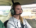 """15/08/18<br /> <br /> ***Video:   https://youtu.be/XDNa_lycFgw ****<br /> <br /> Amy Boulton at the controls before hitting the balloon.<br /> <br /> A fourteen-year-old girl on her first ever flying lesson had the fright of her life when the plane hit a gas-filled balloon yesterday. <br /> Amy Boulton screamed as the Cessna 152 collided with a bright pink balloon shaped as the number 2 as it flew at 1000 ft above a Nottinghamshire airfield at 100mph.<br /> <br /> Instructor Will Flanagan said: """"This was Amy's first flight. She had been at the controls but I was flying in to land at Gamston when I suddenly saw it - I thought it was a bird at first. It could've been a big problem if it had wrapped around the propeller. But thankfully it didn't cause any damage and we landed safely. It certainly gave Amy a shock.""""<br />  <br /> All Rights Reserved: F Stop Press Ltd. +44(0)1335 344240  www.fstoppress.com www.rkpphotography.co.uk"""