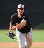 August 1, 2009: LHP Brandon Holloway (29) of the Bluefield Orioles, rookie Appalachian League affiliate of the Baltimore Orioles in a game at Howard Johnson Field in Johnson City, Tenn. Photo by: Tom Priddy/Four Seam Images