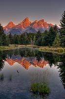 Grand Teton Range, from Schwabacher's. Teton National Park, Wyoming.