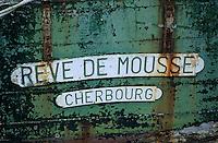 Europe/France/Normandie/Basse-Normandie/50/Manche/Saint-Vaast-la-Hougue: Détail d'un vieux chalutier sur le port