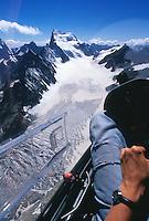 Barre des Ecrins, Segelflug, Berge, Frankreich, Cockpit, Gletscher, Glacier Blanc