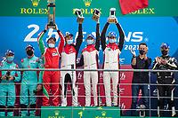 #83 AF Corse Ferrari 488 GTE EVO LMGTE Am, François Perrodo, Nicklas Nielsen, Alessio Rovera, 24 Hours of Le Mans , Podium, Circuit des 24 Heures, Le Mans, Pays da Loire, France