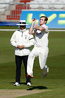 15th April 2021; Emirates Old Trafford, Manchester, Lancashire, England; English County Cricket, Lancashire versus Northants;  Tom Taylor of Northamptonshire bowling