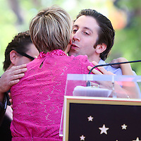 HOLLYWOOD, LOS ANGELES, CA, USA - OCTOBER 29: Kaley Cuoco, Simon Helberg at the ceremony honoring Kaley Cuoco with a star in the Hollywood Walk Of Fame on October 29, 2014 in Hollywood, Los Angeles, California, United States. (Photo by Xavier Collin/Celebrity Monitor)