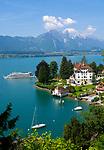 CHE, SCHWEIZ, Kanton Bern, Berner Oberland, Gunten am Thunersee: Parkhotel | CHE, Switzerland, Bern Canton, Bernese Oberland, Gunten ar Lake Thun: Park Hotel