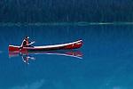Canoeing on Emerald Lake, Yoho NP, BC, Canada