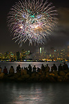 British Columbia Day fireworks, Vancouver, British Columbia, Canada<br /> <br /> Canon EOS-1DS, EF70-200mm f/2.8 +2x lens, f/10 for 15 seconds, ISO 400