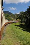 Queensland, Australia; view of the train as the track turns it's way from Cairns to Kuranda, onboard the Kuranda Scenic Railway , © Matthew Meier, matthewmeierphoto.com All Rights Reserved