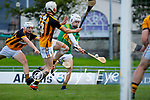 Stephen Egan, Abbeydorney in action against Mikey Kelliher, Lixnaw in the Kerry Senior Hurling Championship Quarter final at Austin Stack Park, Tralee on Saturday evening.