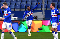 Keita Balde of UC Sampdoria celebrates after scoring the goal of 2-0 during the Serie A football match between UC Sampdoria and FC Internazionale at stadio Marassi in Genova (Italy), January 6th, 2021. <br /> Photo Daniele Buffa/Image Sport / Insidefoto