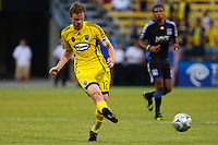 27 MAY 2009: #12 Eddie Gaven, Columbus Crew forward in action during the San Jose Earthquakes at Columbus Crew MLS game in Columbus, Ohio on May 27, 2009. The Columbus Crew defeated San Jose 2-1