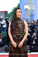 Actress Hong Chau poses on the red carpet of the movie 'Downsizing' and opening ceremony of the 74th Venice Film Festival, Venice Lido, August 30, 2017. <br /> UPDATE IMAGES PRESS/Marilla Sicilia<br /> <br /> *** ONLY FRANCE AND GERMANY SALES ***