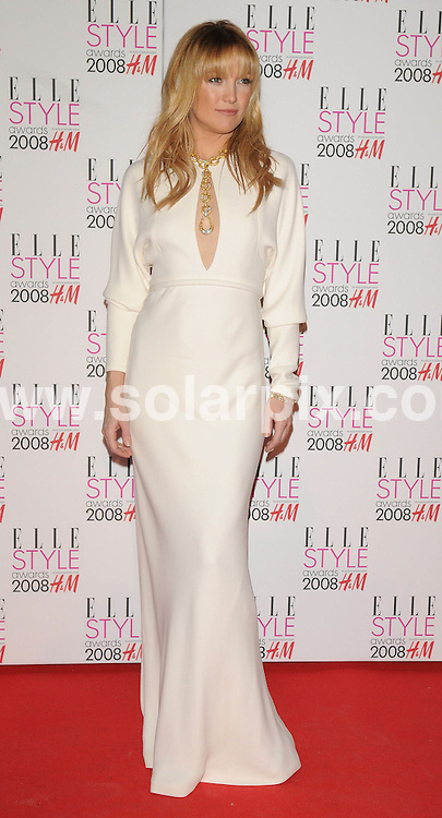 **ALL ROUND PICTURES FROM SOLARPIX.COM**.**WORLDWIDE SYNDICATION RIGHTS**.Celebrities arrive for the Elle Style Awards at The Roundhouse, London. 12th February 2008..This pic: Kate Hudson..JOB REF: 5777 ATM     DATE: 12_02_2008.**MUST CREDIT SOLARPIX.COM OR DOUBLE FEE WILL BE CHARGED* *UNDER NO CIRCUMSTANCES IS THIS IMAGE TO BE REPRODUCED FOR ANY ONLINE EDITION WITHOUT PRIOR PERMISSION*
