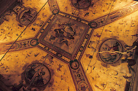 """Europe/Italie/Emilie-Romagne/Bologne : Hôtel """"Baglioni"""" - Le plafond du restaurant """"I Carracci"""" peint par Carracci (XV°)"""