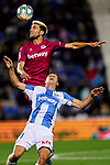 Guido Carrillo of CD Leganes and Lisandro Magallan of Deportivo Alaves during La Liga match between CD Leganes and Deportivo Alaves at Butarque Stadium in Leganes, Spain. February 29, 2020. (ALTERPHOTOS/A. Perez Meca)