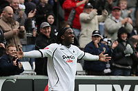 Pictured: Jason Scotland of Swansea City Celebrates<br />