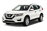 2018 Nissan Rogue S 5 Door SUV Angular Front stock photos of front three quarter view