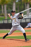 April 25 2010: Bryan Morris (19) of the Bradenton Marauders during a game vs. the St. Lucie Mets  at Digital Domain Park in Port St. Lucie, Florida. St. Lucie, the Florida State League High-A affiliate of the New York Mets, won the game against Bradenton, affiliate of the Pittsburgh Pirates, by the score of 5-4  Photo By Scott Jontes/Four Seam Images