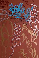 Grafitti on a Door in Chinatown, Monroe Street, Lower Manhattan, New York City, New York State, USA