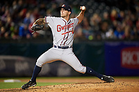 Gwinnett Braves relief pitcher Philip Pfeifer (20) delivers a pitch during a game against the Buffalo Bisons on August 19, 2017 at Coca-Cola Field in Buffalo, New York.  Gwinnett defeated Buffalo 1-0.  (Mike Janes/Four Seam Images)