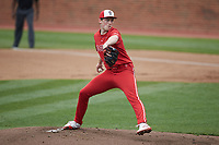 North Carolina State Wolfpack starting pitcher Sam Highfill (17) in action against the North Carolina Tar Heels at Boshamer Stadium on March 27, 2021 in Chapel Hill, North Carolina. (Brian Westerholt/Four Seam Images)