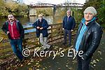 Members of Killorglin Community Council are seeking a town park for Killorglin. Front right: Conor Browne. Back l to r: Mike McCaffery, Joe Brennan and Cllr: Michael Cahill.