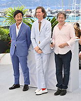 CANNES, FRANCE. July 13, 2021: Stephen Park, Wes Anderson & Mathieu Amalric at the photocall for Wes Anderson's The French Despatch at the 74th Festival de Cannes.<br /> Picture: Paul Smith / Featureflash