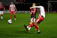 Arthur Iontton of Stevenage FC shots wide during Stevenage vs Bolton Wanderers, Sky Bet EFL League 2 Football at the Lamex Stadium on 21st November 2020