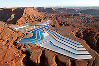 Potash evaporation ponds near Moab utah
