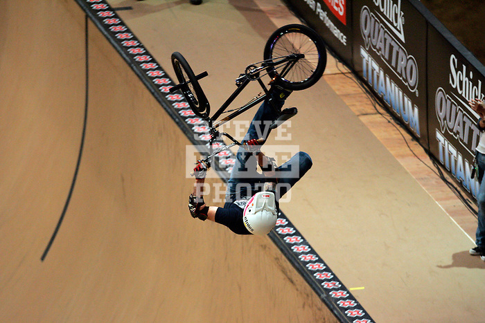Jamie Bestwick competes in the BMX Freestyle Vert finals during X-Games 12 in Los Angeles, California on August 4, 2006.