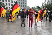 """Knapp 100 Mitglieder und Anhaenger der sog. """"Identitaeren"""" demonstrierten am Freitag den 17. Juni 2016 in Berlin. Angemeldet waren laut Veranstalter 400 Teilnehmer. Die rechtsextremen Teilnehmer des Aufmarsches kamen aus Berlin, Bayern und Oestrreich und skandierten Parolen wie """"Berlin ist unsere Stadt"""", """"Festung Europa, macht die Grenzen dicht"""" und No Border, No Nation, Stop Immigration"""".<br /> 17.6.2016, Berlin<br /> Copyright: Christian-Ditsch.de<br /> [Inhaltsveraendernde Manipulation des Fotos nur nach ausdruecklicher Genehmigung des Fotografen. Vereinbarungen ueber Abtretung von Persoenlichkeitsrechten/Model Release der abgebildeten Person/Personen liegen nicht vor. NO MODEL RELEASE! Nur fuer Redaktionelle Zwecke. Don't publish without copyright Christian-Ditsch.de, Veroeffentlichung nur mit Fotografennennung, sowie gegen Honorar, MwSt. und Beleg. Konto: I N G - D i B a, IBAN DE58500105175400192269, BIC INGDDEFFXXX, Kontakt: post@christian-ditsch.de<br /> Bei der Bearbeitung der Dateiinformationen darf die Urheberkennzeichnung in den EXIF- und  IPTC-Daten nicht entfernt werden, diese sind in digitalen Medien nach §95c UrhG rechtlich geschuetzt. Der Urhebervermerk wird gemaess §13 UrhG verlangt.]"""
