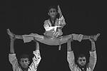 Boys show their skills in karate. Photo by Sanad Ltefa